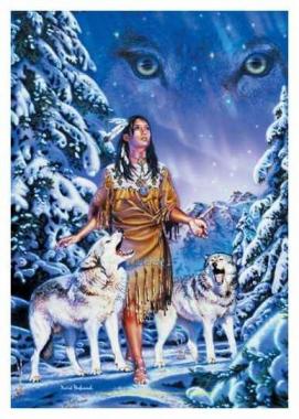 Posterfahne David Penfound - Wolf Aurora