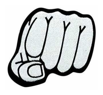 Aufnäher Fist