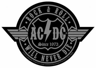Aufnäher AC/DC RocknRoll will never Die (Cutout)