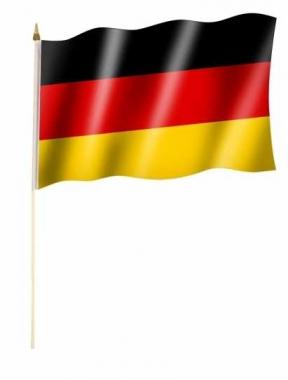 Deutschland Stockfahnen