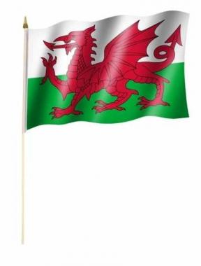 Wales Stockfahnen