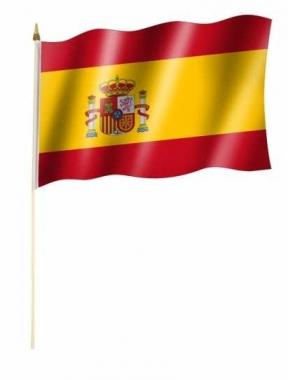 Stockfahnen Spanien