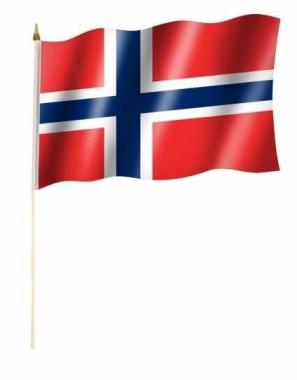 Norwegen Stockfahnen