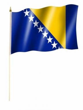 Bosnien Herzegowina Stockfahnen