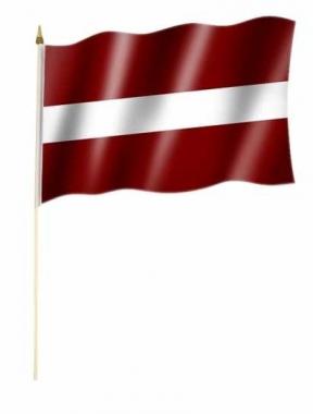Lettland Stockfahnen