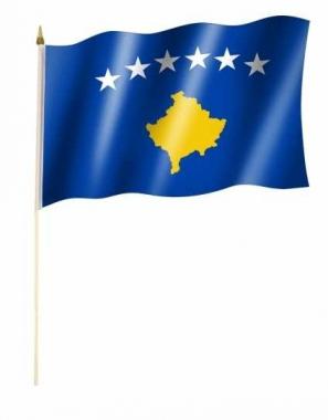 Kosovo Stockfahnen