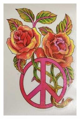 Temporäres Tattoo Peace