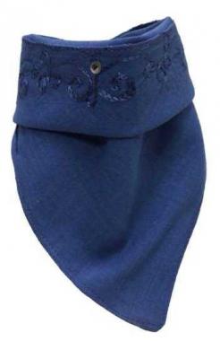 Bandana mit Schlaufen -  Blau