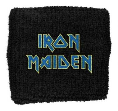 Iron Maiden Blue Logo Merchandise Schweißband