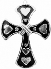 CNK-C 003 A - Halskette / Heart Crucifix