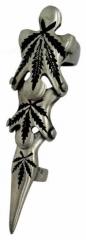 Gelenk Fingerring - Hanfblatt