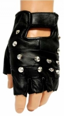 Leather Gloves - Pointed Studs