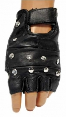 Leather Gloves - Flat Studs