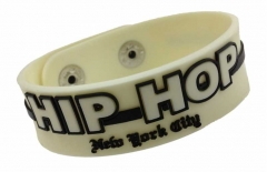 Silikon Armband - Weiß Hip Hop