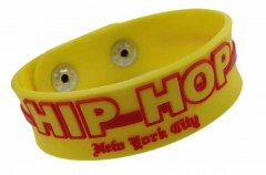 Silicone Armband - Yellow Hip Hop