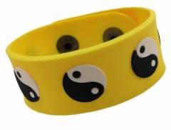 Silikon Armband - Yin Yang Gelb