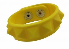 Silikon Armband - Gummi Nieten Gelb