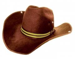 HWC 004 - Filz Cowboy Hut / Braun