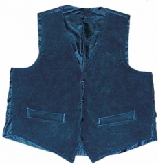 Leather Vest - Black