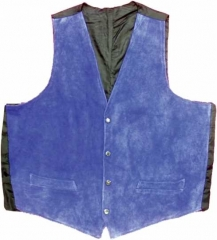 Leather Vest - Blue