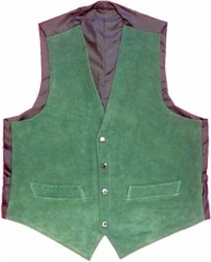 Leather Vest - Green