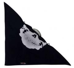 Bikertuch White skull