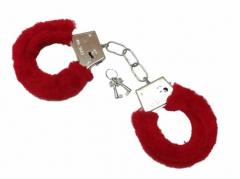 Rote Plüsch Handschellen