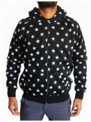 Gothic Kaputzensweatshirt - Stars