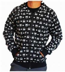 Gothic Kaputzensweatshirt - Skulls & Stars