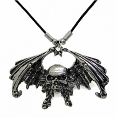 Halskette Totenkopf mit Flügel