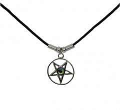 Mystische Halskette Pentagramm
