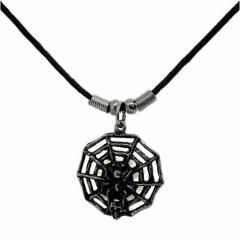 Halskette Spinne mit Netz