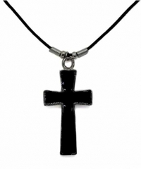 Halskette Schwarzes Kreuz