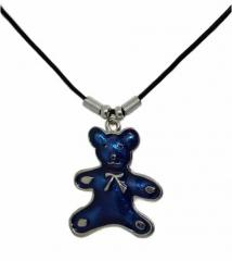 Halskette blauer Teddybär
