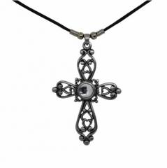 Halskette Kreuz mit Stein