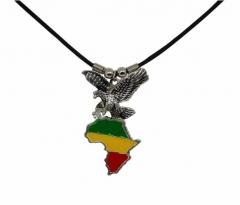 Halskette Afrika Landkarte mit Adler
