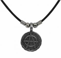 Anarchie Symbol Anhänger mit Kette