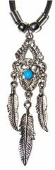 Gothic Halskette Feder