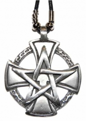 Gothic Halskette Pentagram & Iron Cross