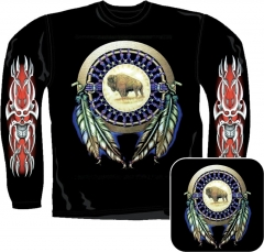 Sweatshirt - Büffel Mit Tribal