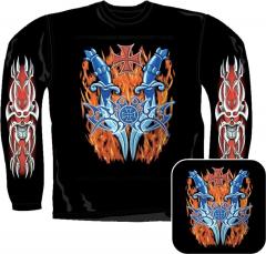 Sweatshirt - Feuer Mit Eisernen Kreuz Und Tribal