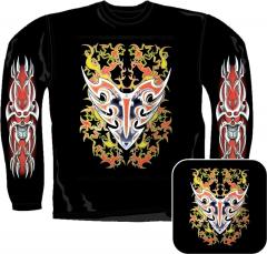 Sweatshirt - Feuer Sterne Totenkopf