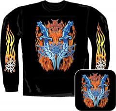 Sweatshirt - Feuer Tribal Mit Eisernem Kreuz