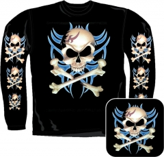 Sweatshirt - Piraten Totenkopf Tribal
