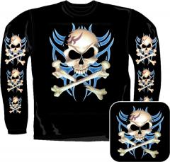 Sweatshirt - Piraten Totenkopf Tribal