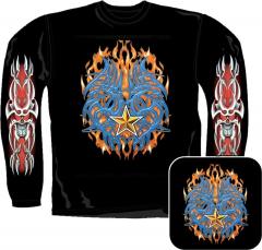 Sweatshirt - Feuer Tribal Totenkopf