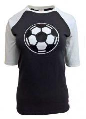 Damen Top Schwarz Fußball