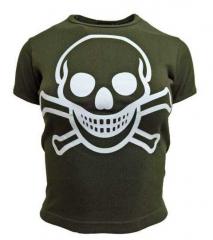 Armee grünes Top  Totenkopf