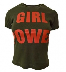 Armee grünes Top  Girl Power