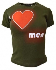 Armee grünes Top  I Love Men